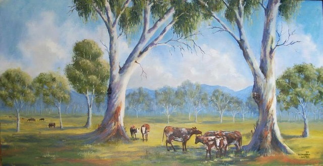 The back paddock sold port art gallery for Koi farm melbourne